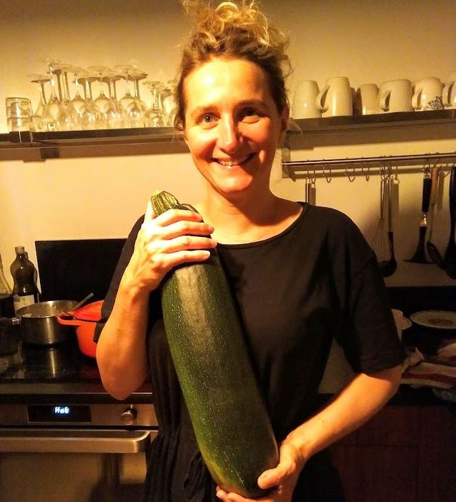 Blanche and the enormous courgette