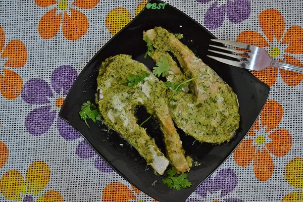 4. Green Baked Salmon