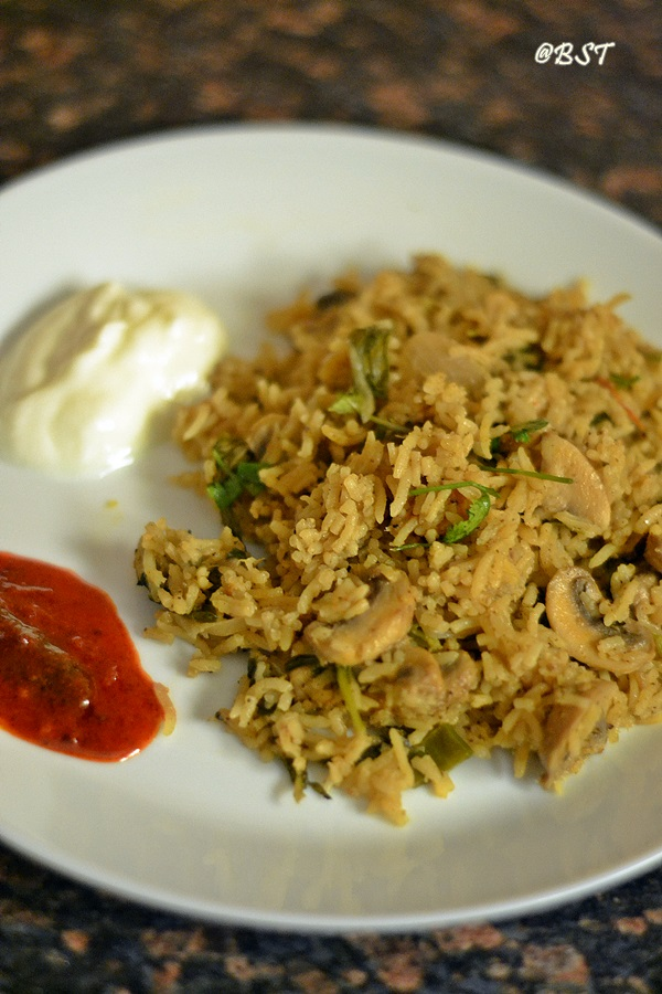Easy Mushroom Biriyani