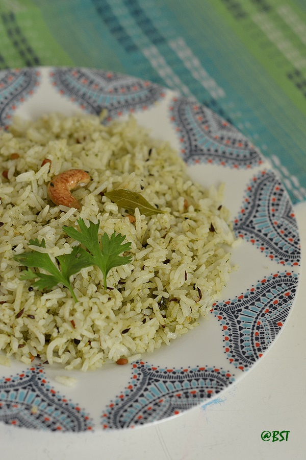 Kothamalli Karuveppilai Sadam ~ Coriander Curry Leaves Rice