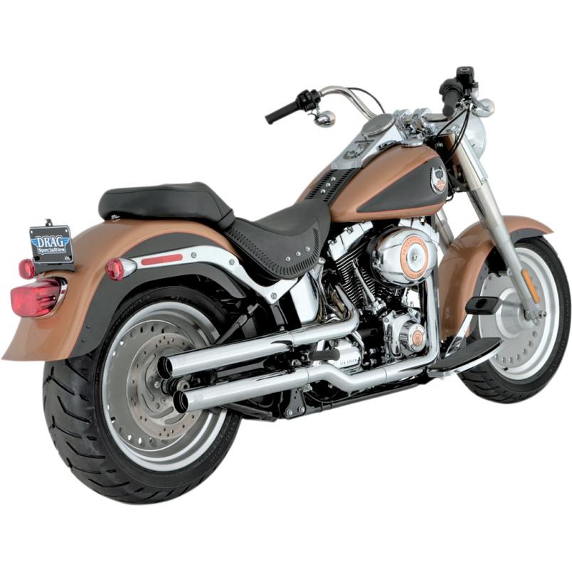 vance hines straightshots slip on exhaust muffler harley softail fatboy flstf 16827 phoenix cycles