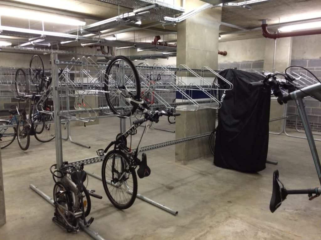 free standing vertical bike rack