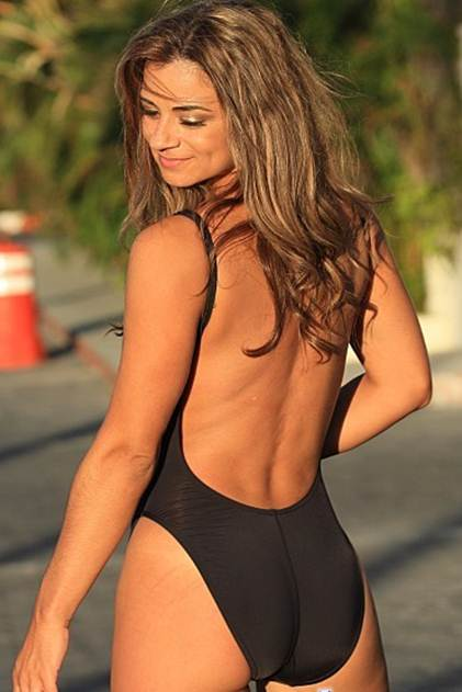 Double Dip Black One Piece Swimsuit