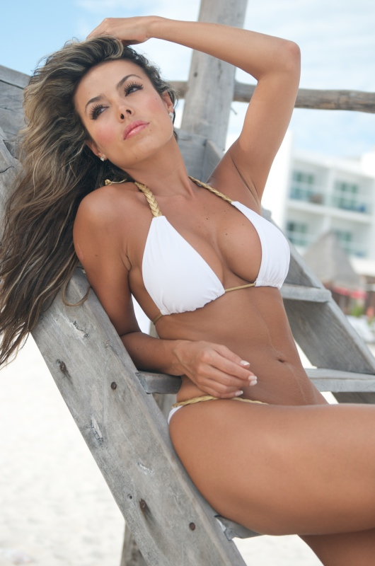 White Braided Bikini-3 Goddess String Bikini Spartacus