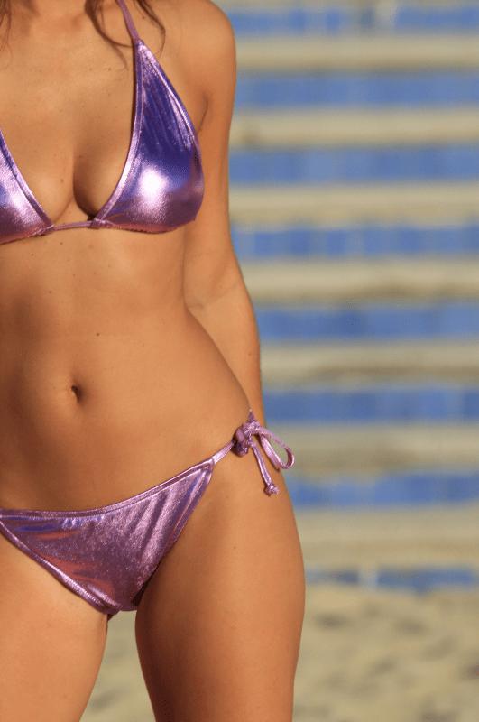 Metallic String Bikini Sexy