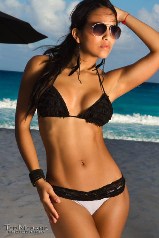 Bikinis For Women with Smaller Chests Black Ruffle