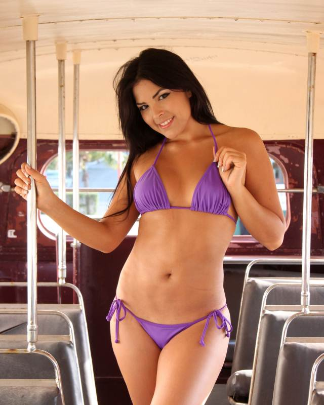 Bikinis For Women with Smaller Chests Purple String