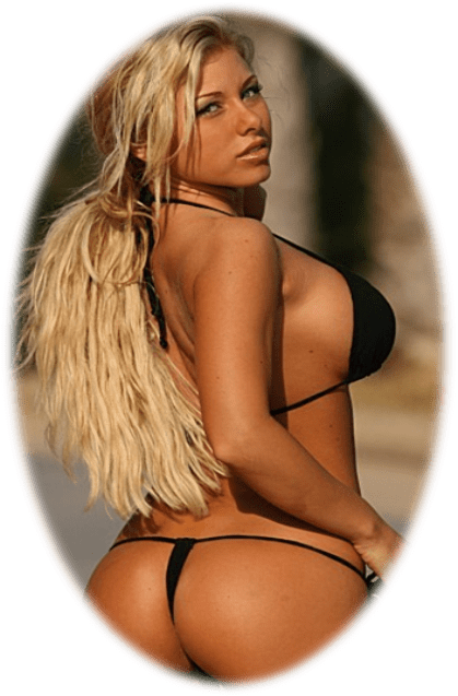Black G String and thong bikinis