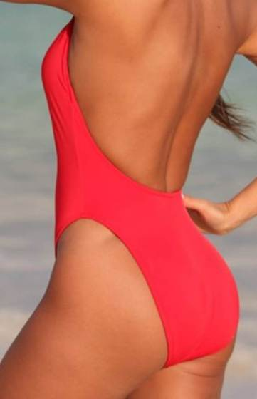 Super-Slimming-Red-One-Piece-Swimsuit