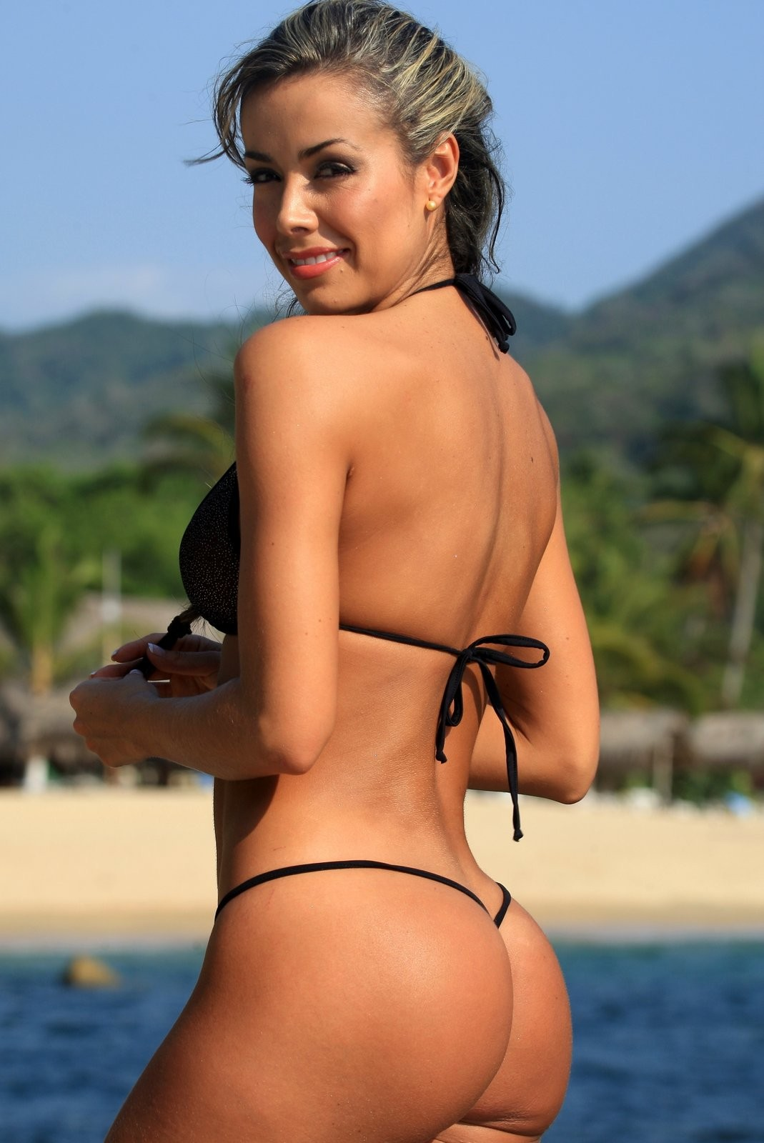 Black Sheer Sensual G-String-Bikini for a Romantic Evening for Two