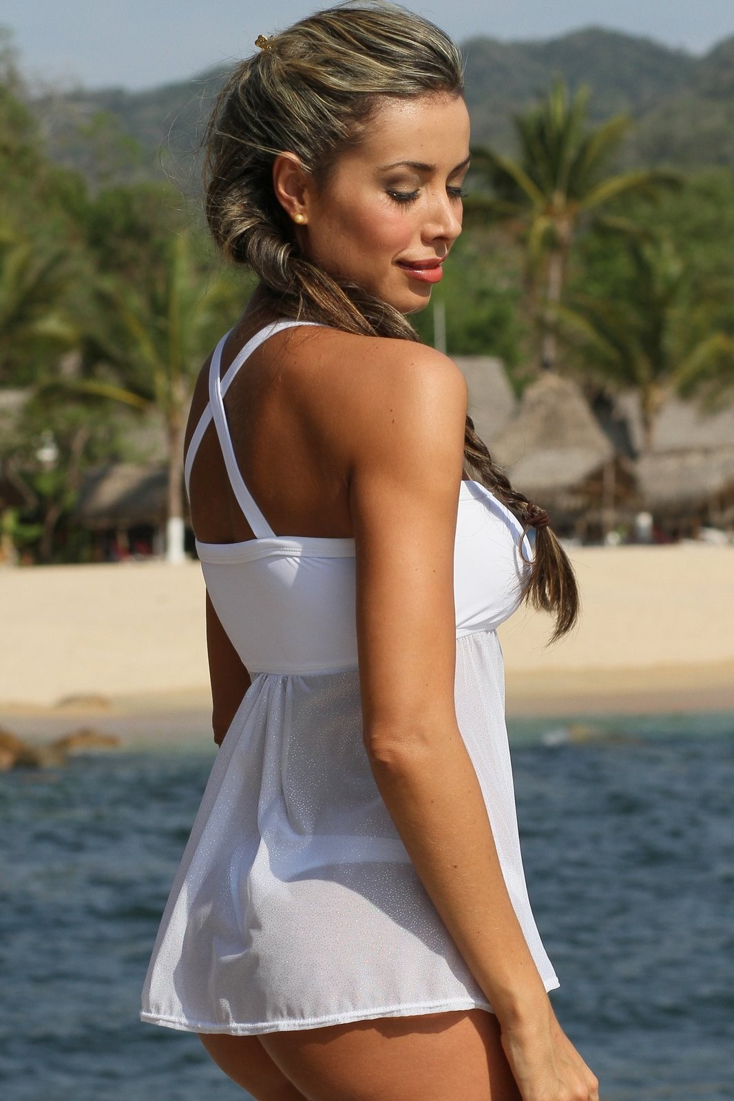 Lovers Sheer Thong Tankini Bikini for that special romantic night