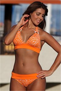 Orange Crush Banded Bikini