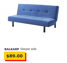 most affordable sleeper sofa high back fabric sofas uk one year with ikea s second cheapest the billfold i cannot imagine that balkarp is all comfortable because solsta isn t either it a wood frame plus two strips of