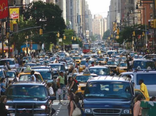 In New York City, most people don't drive.