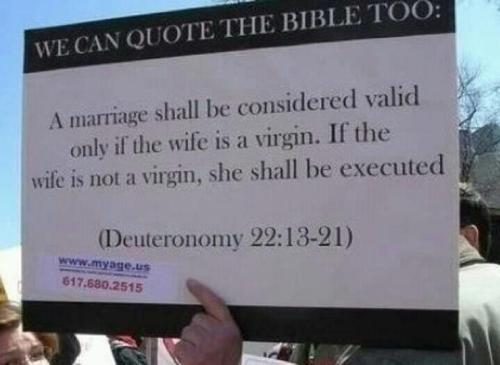 Christian leaders are not going to execute non-virgins. Not going to happen.