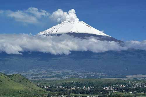 Mount Popocatepetl, a volcano