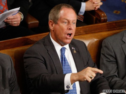 Joe Wilson shouts you lie at Obama during state of the union address