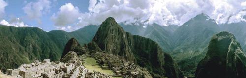 Machu Piccuh aerial view