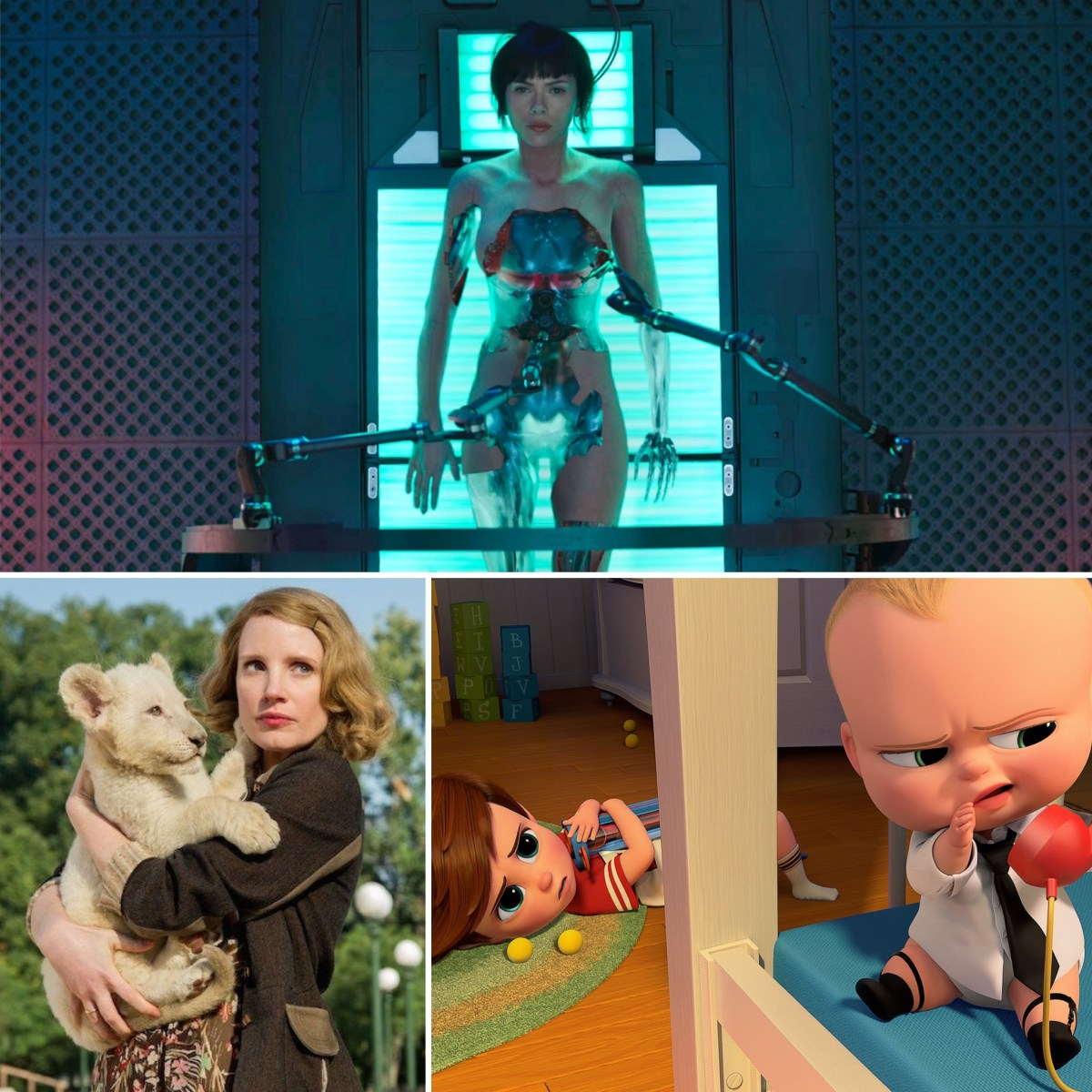 The Binge Movie Podcast: Ghost in the Shell | The Zookeeper's Wife | The Boss Baby