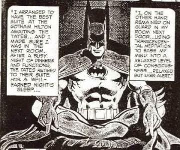 Batman meditation
