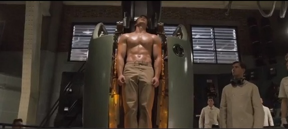 Captain America gets six pack abs