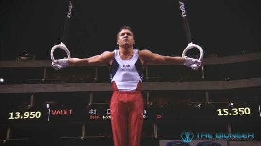 Straight arm training iron cross