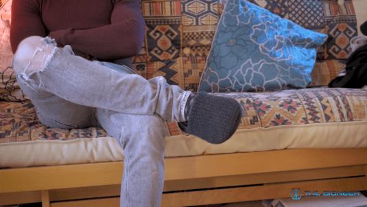 Body language foot pointing