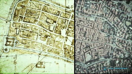 Da Vinci Satellite Map of Imola