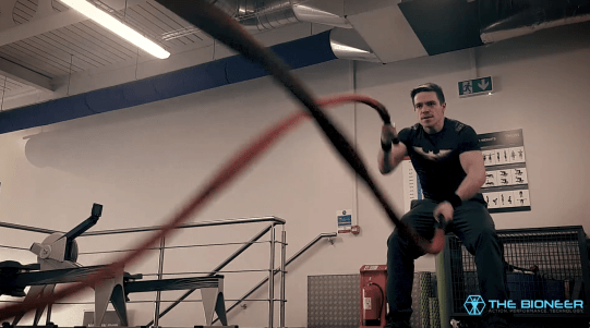 Functional training with battle ropes