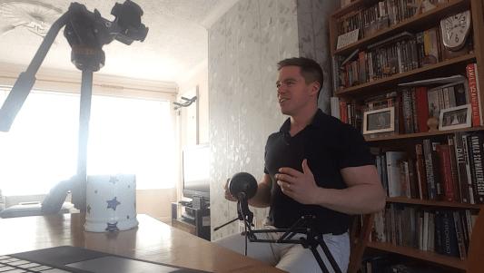 Filming presenting