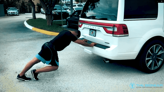 Car push Gilbert Burns IHP