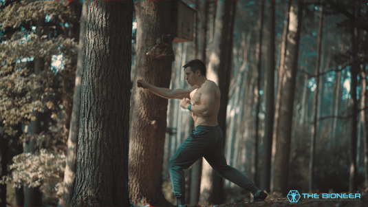 Sparring in Woods