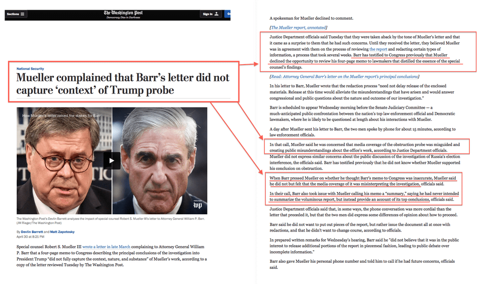 What Did Mueller Really Say to Barr?