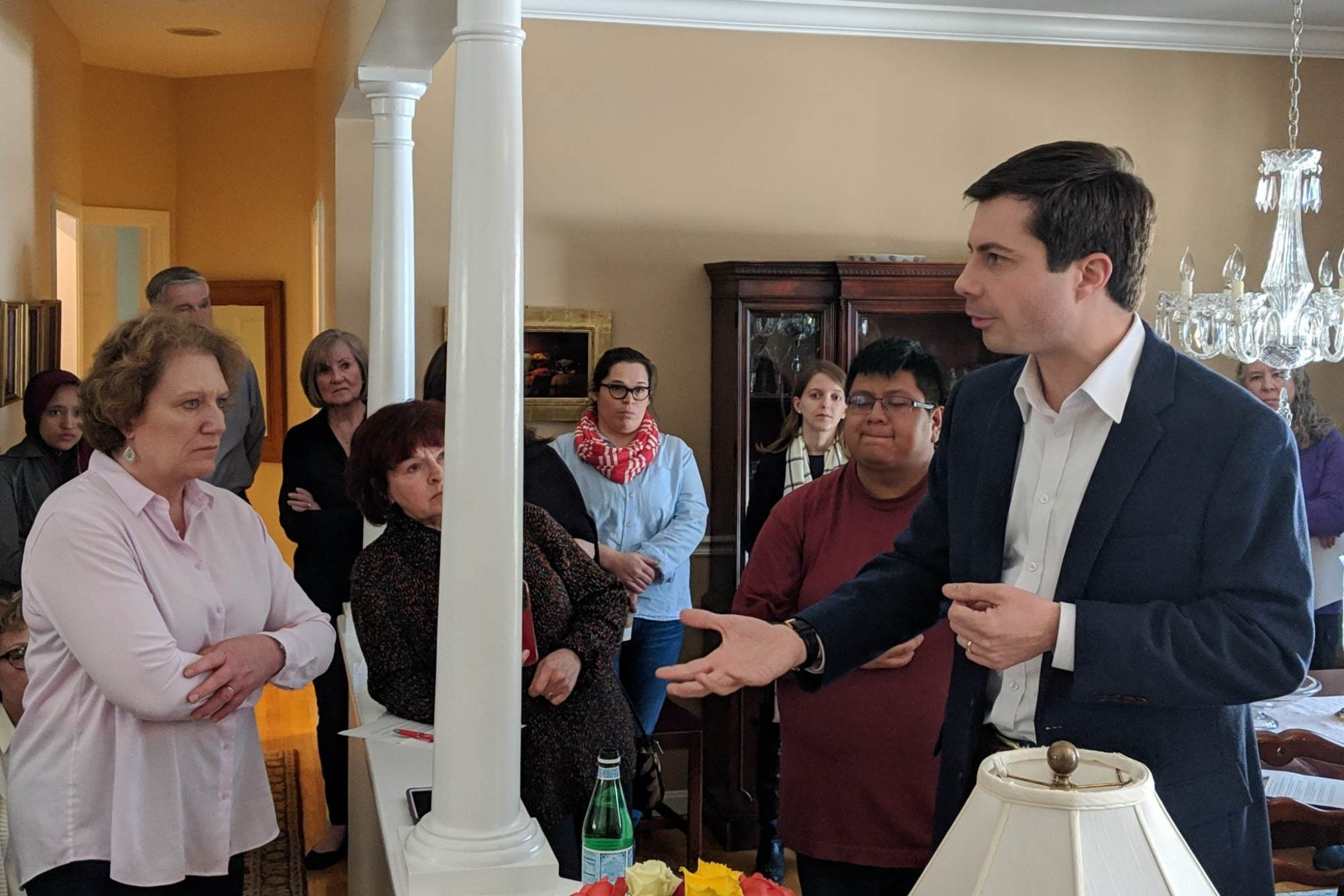Back In South Bend, Buttigieg Met By: 'Stop Telling People to Shut Up!'