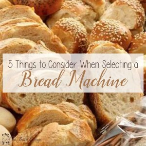 5 Things to Consider When Selecting a Bread Machine