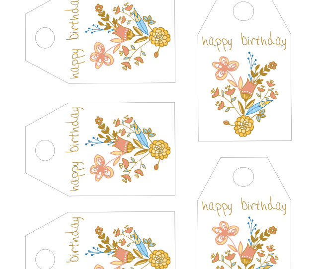 Of The Birthday Gift Tags