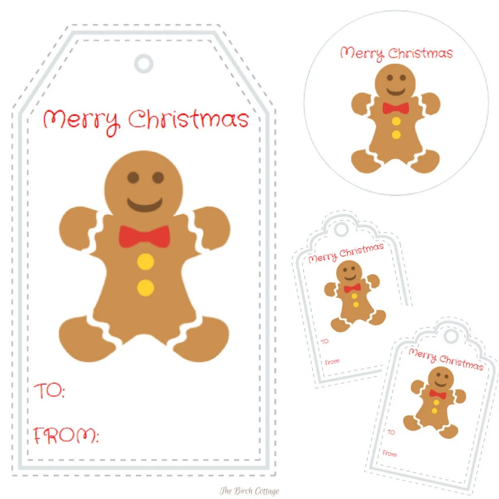 Gingerbread Man Christmas T Tags