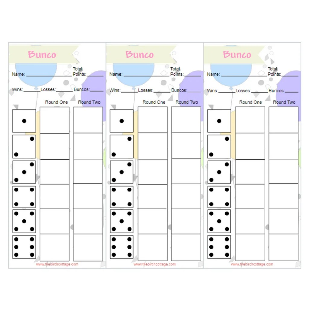 graphic relating to Free Printable Bunco Score Sheets identified as no cost printable bunco playing cards