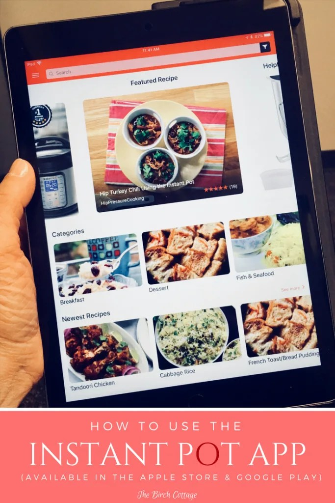 Instant Pot Recipe App For The Electric Pressure Cooker