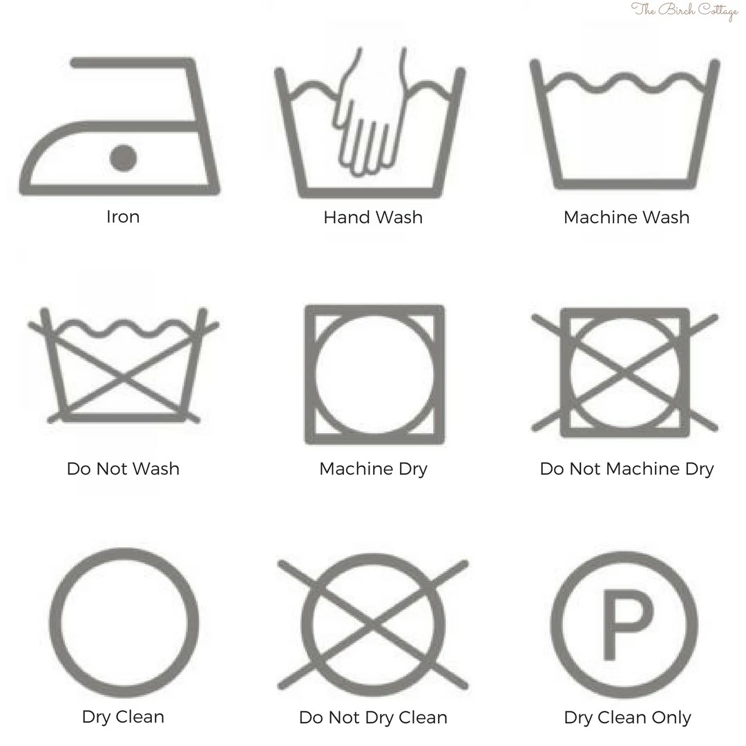 Printable Care Tags For Crochet Knit And Handmade Ts