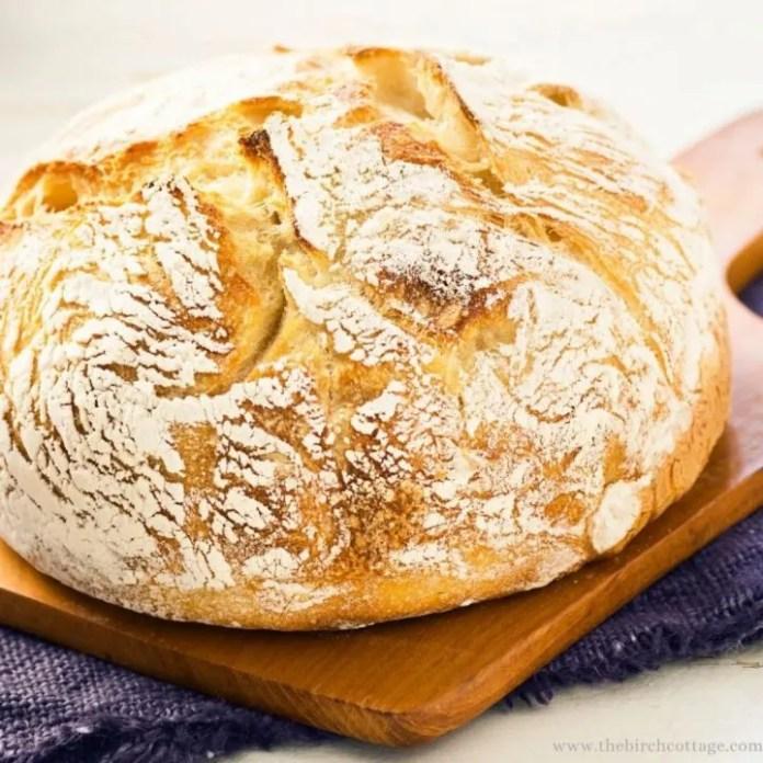 Easy Sourdough Starter Bread Recipe The Birch Cottage