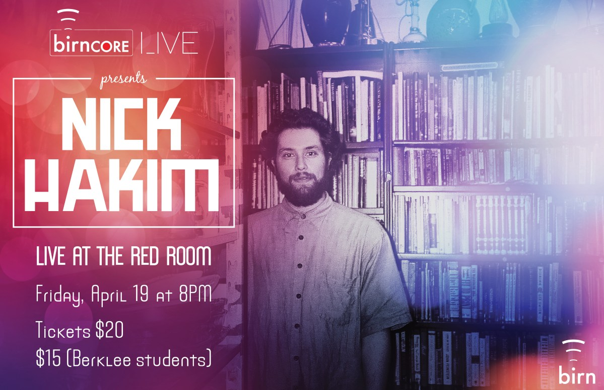 Nick Hakim and Danielle Ponder play birnCORE Live at the Red Room on Friday, April 19!