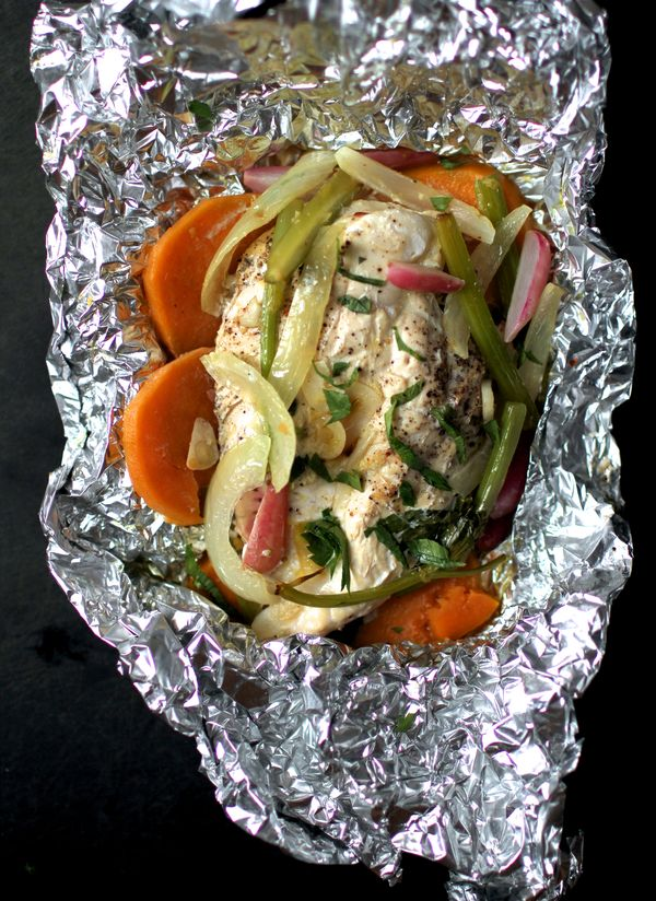 The Bitten Word Chicken Baked in Foil with Sweet Potato