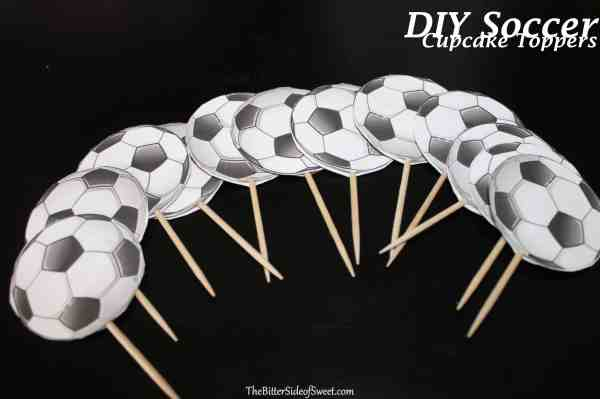 Diy Soccer Cupcake Toppers - Bitter Side Of Sweet