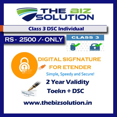 Class 3 Dsc for Individual Signing 2 Years Validity e tender e bid low price