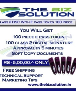 Bulk Digital Signature certificate with E pass token lowest price set of 100