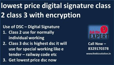 Digital Signature Certificate Class 2 or Class 3 at low cost