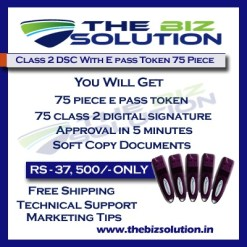 Bulk Digital Signature certificate with E pass token lowest price set of 75