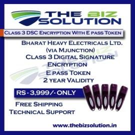 Bharat Heavy Electrical Ltd via BHEL Class 3 digital Signature Tender
