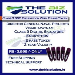 Digital Signature for Director General Naval Projects Visakhapatnam Tender